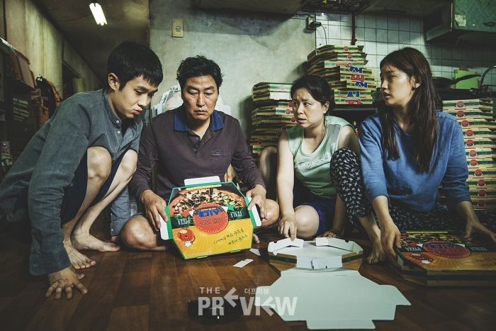 Photo: In Parasite, a lower-class family con their way into employment within one wealthy household — setting in motion a chain of mishaps. (Supplied: Madman Entertainment)